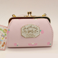 Lovely Cartoon My Melody Coin Purse Wallet Shallow Pink Colour PU Texture Of Material Handbag Small Change Mini bag monederos