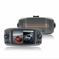 720P Dual Camera Lens Dash Cam with 2.7 LCD Dual Recording DVR Video Recorder & 8 IR Lights for Night Vision Parking Monitoring