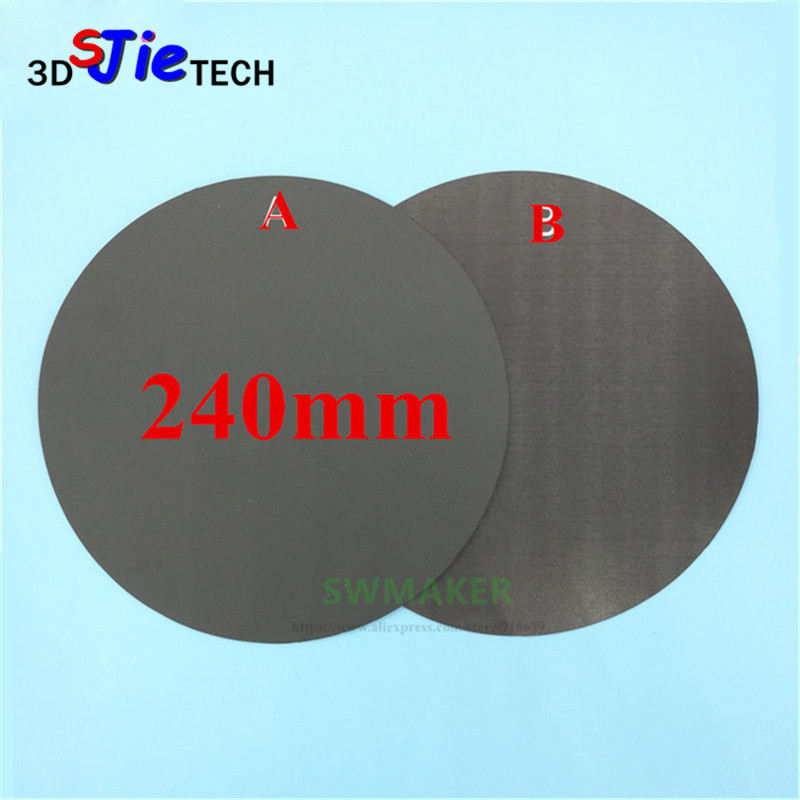 Loyal Round 240mm Magnetic Adhesive Print Bed Tape Print Sticker Build Plate Tape Flexplate For Diy Kossel/delta 3d Printer Parts 3d Printers & 3d Scanners