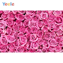 Yeele Fresh Blossom Rose Flowers Pink Wallpapers Personalized Photography Backdrops Photographic Backgrounds For Photos Studio