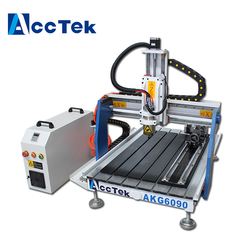 Hot sale wood cnc router 6090 4 axis desktop with rotary axis