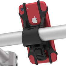 Phone Handlebar Bracket Stand Bike Bicycle Motorcycle Mobile Phone Silicone Holder Mount Buckle Pull Non-slip For Cellphone GPS