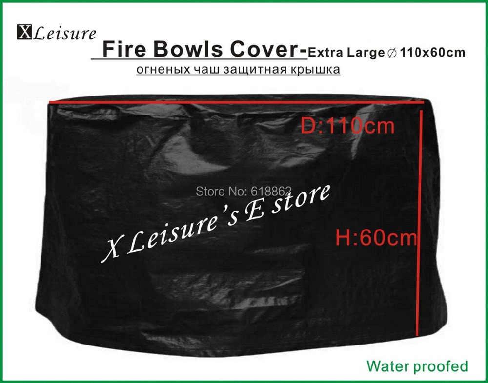 """Poços do fogo de Cobertura, tamanho Extra Grande capa Protetora para Poços do Fogo, Fogo Tigelas, Cestas de Fogo Cover -- 43.3 """"/110X60 CM Frete grátis"""