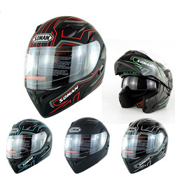 Top Motorcycle Helmet Double Lens Face Lift Four Seasons Ride Off-road Helmet Safety Helmet For Unisex Size S-XXL