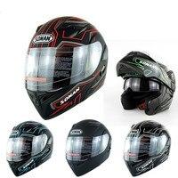 Top Motorcycle Helmet Double Lens Face Lift Four Seasons Ride Off road Helmet Safety Helmet For Unisex Size S XXL