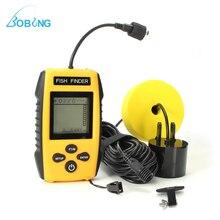 Bobing портативный ЖК дисплей искатель рыбы 0,6-100 м глубина локатор сонарный преобразователь сенсор сигнализации эхолот детектор