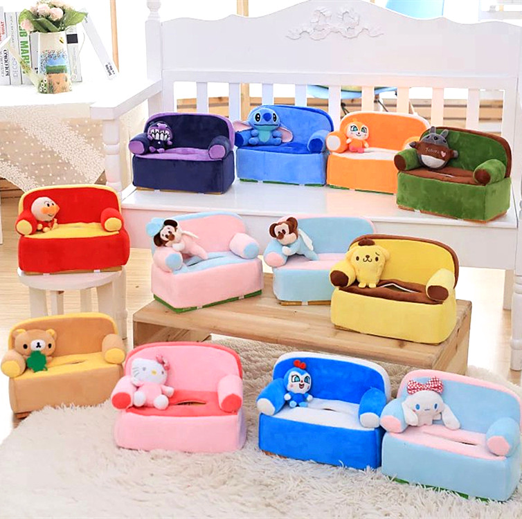 Candice guo! cute plush toy sofa style tissue box cover Anpanman Cinnamoroll Totoro Stitch Rilakkuma Purin birthday gift 1pc lovely cartoon plush toy totoro stitch michey marie cat cat donald duck dumbo tissue box cover paper towel cases gift 1pc