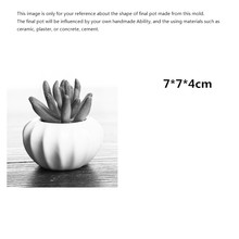 Concrete Flower Pot Mold Silicone Planter Mould Plaster Craft Ceramic Vase