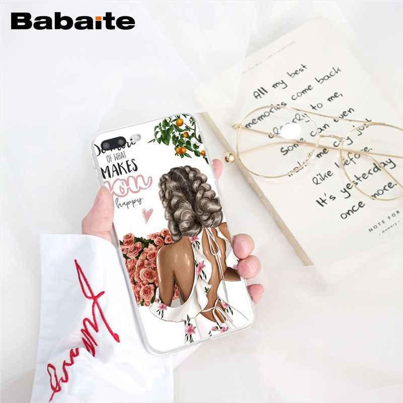 Babaite Mode Bruin Haar Baby Mom Meisje Kerstboom Telefoon Case Voor Iphone 11 Pro 11Pro Max 8 7 6 6S Plus X Xs Max 5 5S Se Xr