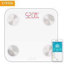 Hot Smart Bathroom Scale Floor Electronic Body Fat Weight Household LED bmi Weighting Mi Bluetooth 20 Data