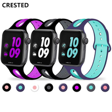 Band For apple watch strap apple watch 4 band 44mm iwatch band 42mm/40mm sport silicone correa 38 mm bracelet watchband 4/3/2/1 стоимость