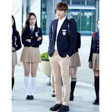 Uniforms Set New England South Korea JK Uniform Fashion High School Student Dress Classy Long sleeve Elegant suit jacket(China)