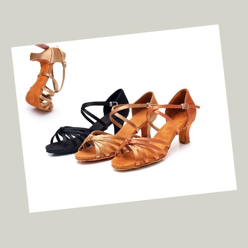 Alharbi Woman Professional Ballroom Dance Shoes Ladies Girls Latin Dance Shoe Heeled 5CM/7CM Dancing Shoes For Women Latino