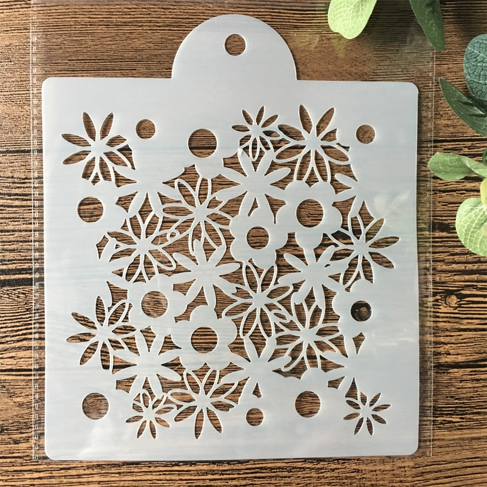 15cm Daisy Flower DIY Layering Stencils Painting Scrapbook Coloring Embossing Album Decorative Card Template