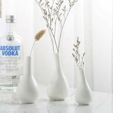 White bone china decorative vase, porcelain ceramic vase