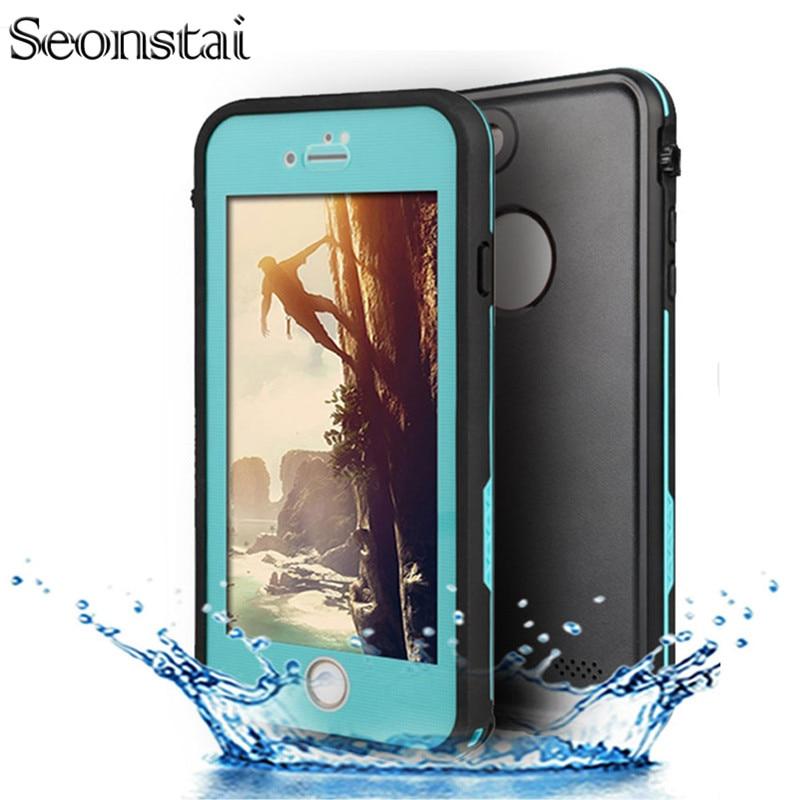 imágenes para I7 ultra delgado impermeable ip68 bajo el agua a prueba de golpes duro case para iphone7 7 perpetua más coque cubierta del teléfono a prueba de agua Capinha