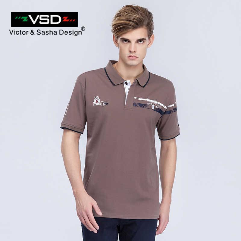 Vsd verão polo camisa para homens casuais sólida turn down Collar Manga Curta Moda Slim Fit Roupas de Marca Bussiness Masculino Y6801