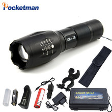 9000LM XM-L T6 L2 LED Flashlight Rechargeable Zoomable Linternas Torch Waterproof Lamp by 1*18650 or 3*AAA Hand Light(China)