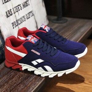 Image 4 - אנאנ גברים נעליים יומיומיות אביב סתיו לנשימה Mens דירות נעלי Zapatillas Hombre אופנה זכר כחול אדום אפור גודל 7  10.5