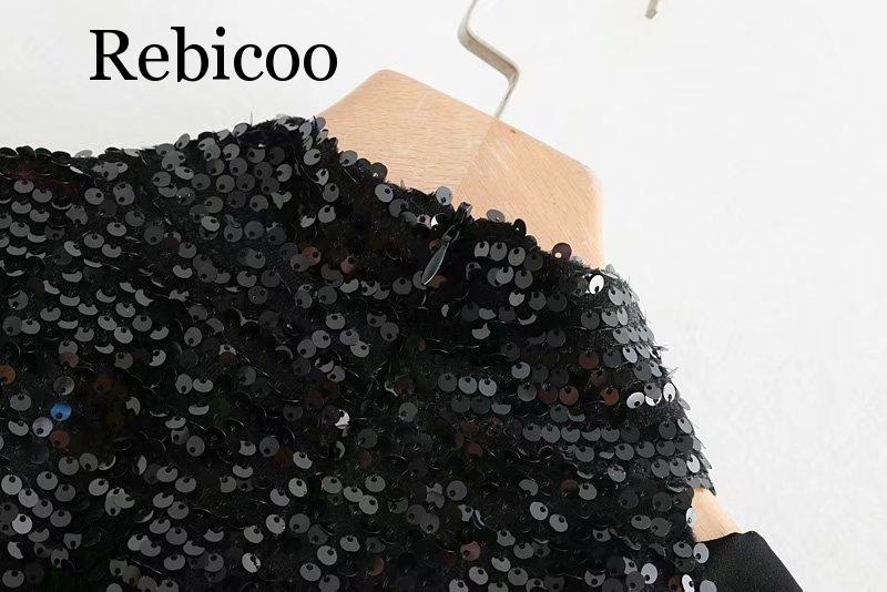 Women Mirror Sequined Long Sleeve T Shirt Cold Shoulder Black Turtleneck Tops Sexy Slim T Shirt in T Shirts from Women 39 s Clothing