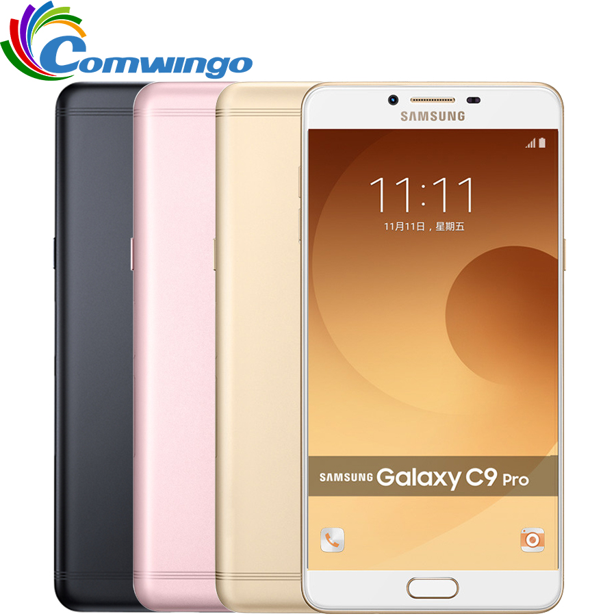 Цена за 2016 samsung galaxy c9 pro c9000 4 г lte мобильный телефон octa core Android6.0 6 ГБ RAM 64 ГБ ROM 16MP Камера 6 ''Сотовый Телефон