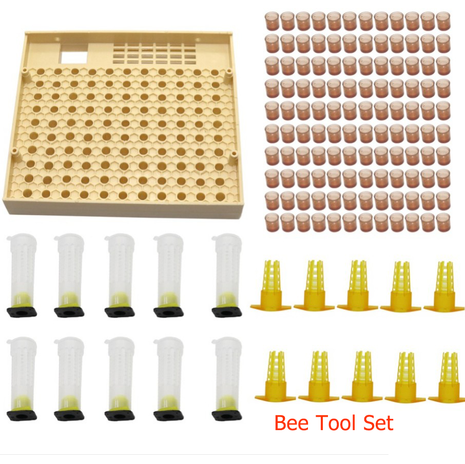 Beekeeping Cupkit 120 Cell Cups Bee Tool  Queen Rearing System Bee Nicot Complete Catcher Cage Apiculture Helper