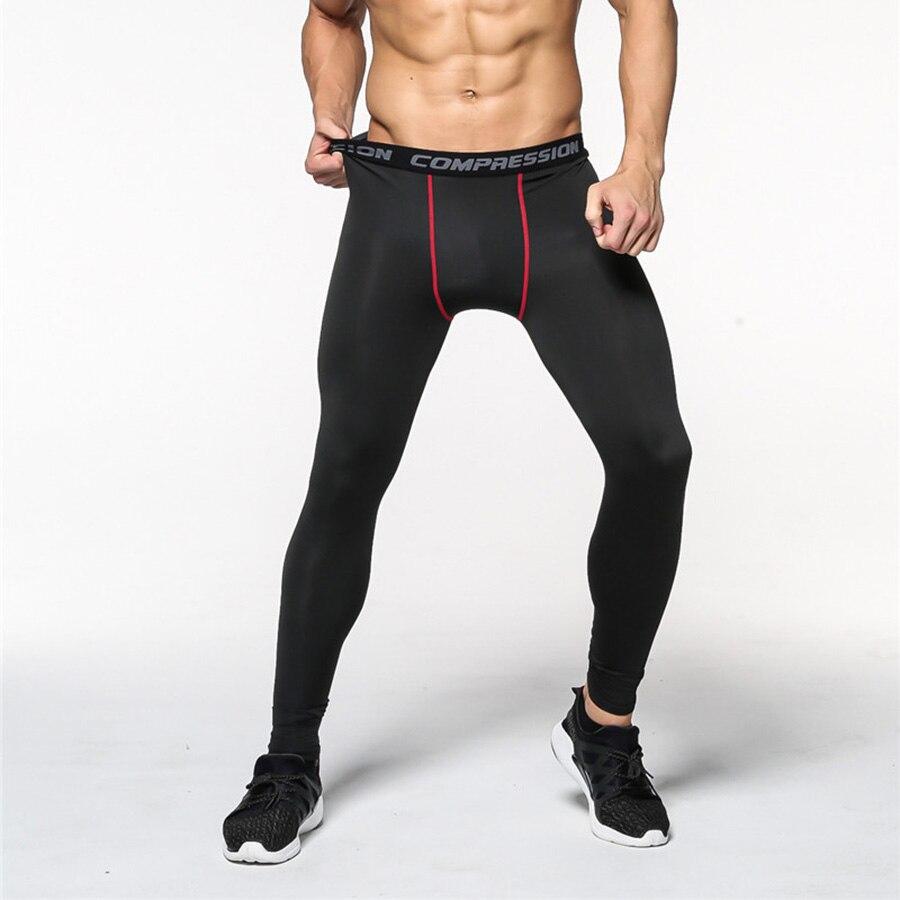 2018 Männer Fitness Kompression Hose Männer Bodybuilding Jogger Crossfit Hosen Hosen Dünne Strumpfhosen Bodybuilding Legging Mma