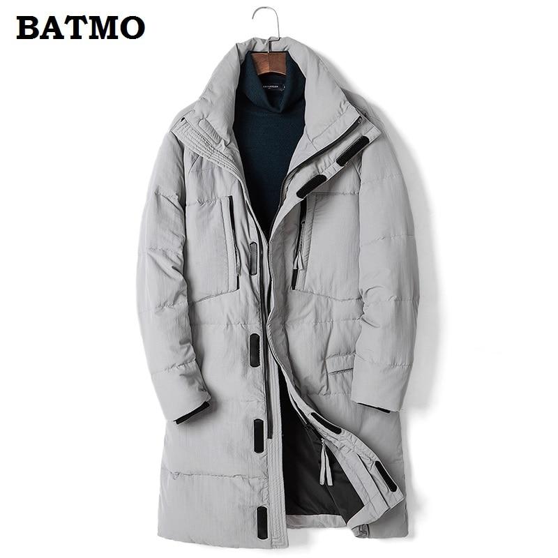 BATMO 2018 new arrival winter high quality 80% white duck   down   jackets men,men's winter parkas,trench   coat   men size M-2XL 777