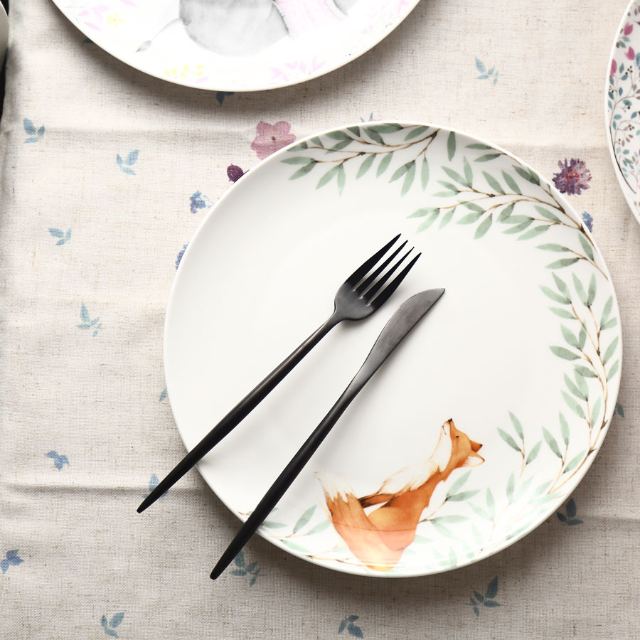 modern dinner plates promotionshop for promotional modern dinner  - dh modern  inch animal theme ceramic dish plate salad sushi cake dinnerplate bone china dishware porcelain