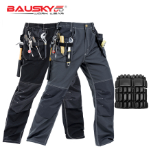 New High Quality Craftsman Mens Work Pants Workwear Multi Pockets Work Trousers Mechanic Workwear Free Shipping
