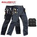 Nova alta qualidade craftsman calças de trabalho dos homens workwear multi bolsos calças trabalho mecânico workwear frete grátis