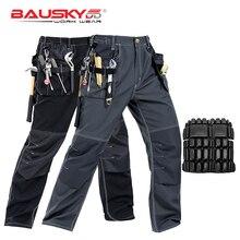 החדש גבוהה באיכות אומן גברים של עבודת Workwear מכנסיים כיסים רב לעבוד מכנסיים מכונאי Workwear משלוח חינם