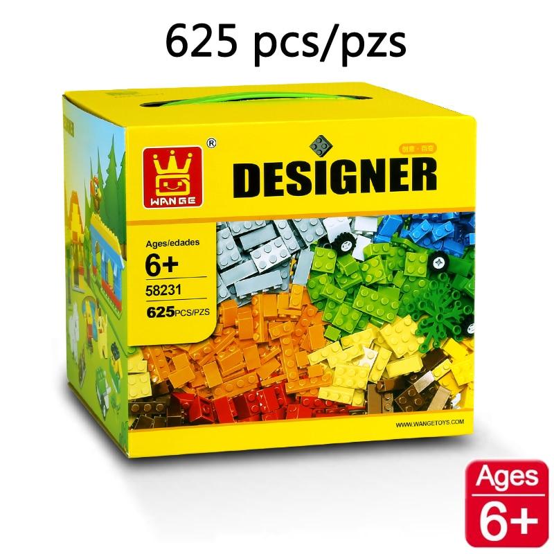 Совместимость с Lego Classic 625 шт. Bulk строительные Конструкторы образовательные творческие DIY Модель Кирпичи Игрушечные лошадки Wange 58231 дизайнер Конструкторы