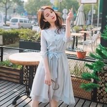 MAYFULL Women fashion long sleeve new dress chiffon