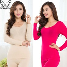 Queenral Women Thermal Underwear Set For Winter Long Johns S