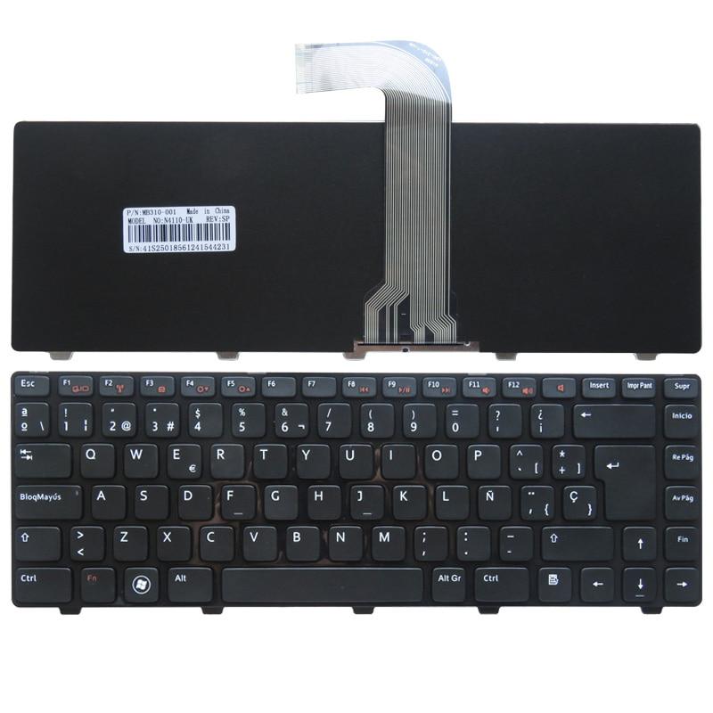 Испандық ноутбук үшін DELL Vostro 3550 XPS L502 N4110 N4120 M4110 N4050 M4040 N5050 M5050 M5040 N5040 SP пернетақтасы