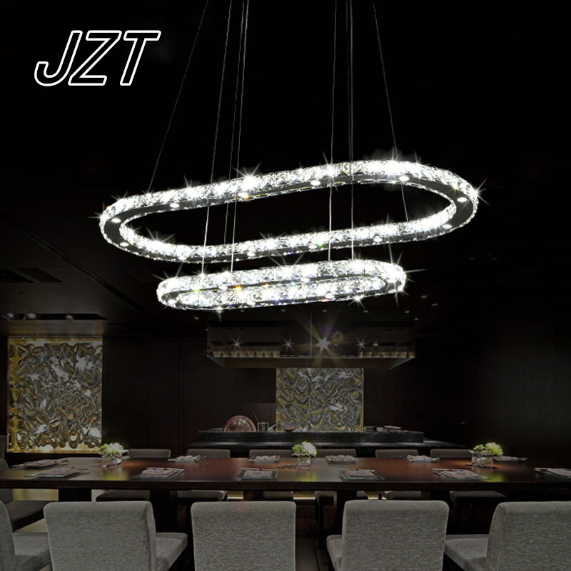 T Fashion Modern Dining Room Pendant Light Ring Luxury Crystal Lamps For Restaurant Hotel Living Room Bedroom Led Chip 2016 time limited suspension luminaire basons fashion living room pendant light modern bedroom lamp brief crystal dining lamps