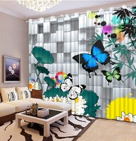 Beautiful 3D Curtains Bedding Room Living Room or Hotel Drapes Cortians Butterfly Window Curtain Wedding Curtains CL DLM813