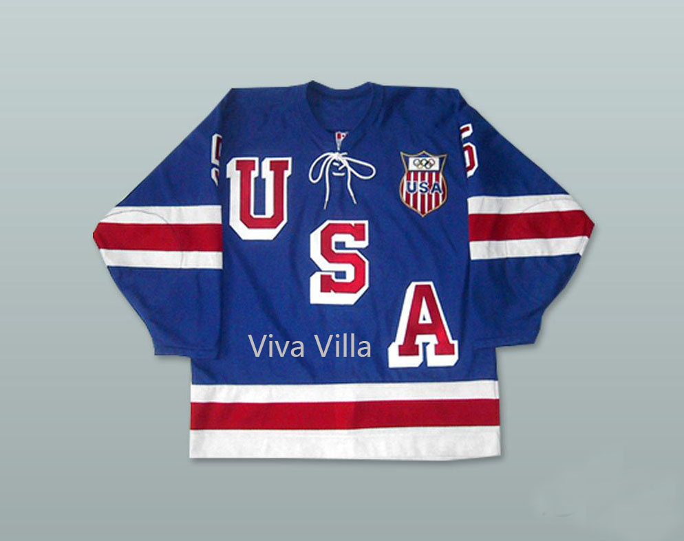 1960 USA Hockey Jerseys Herb Brooks 5 Ice Hoceky Jersey Stitched Embroidered Men Hockey Jersey With Patch Viva Villa free shipping factory oem ice hockey jerseys team cheap embroidery mens supplier tackle twill shirt usa canada australia