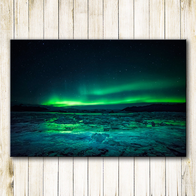 Nice HDARTISAN Printing Oil Painting Wall Painting Northern Lights Wall Art  Picture For Living Room Home Decor
