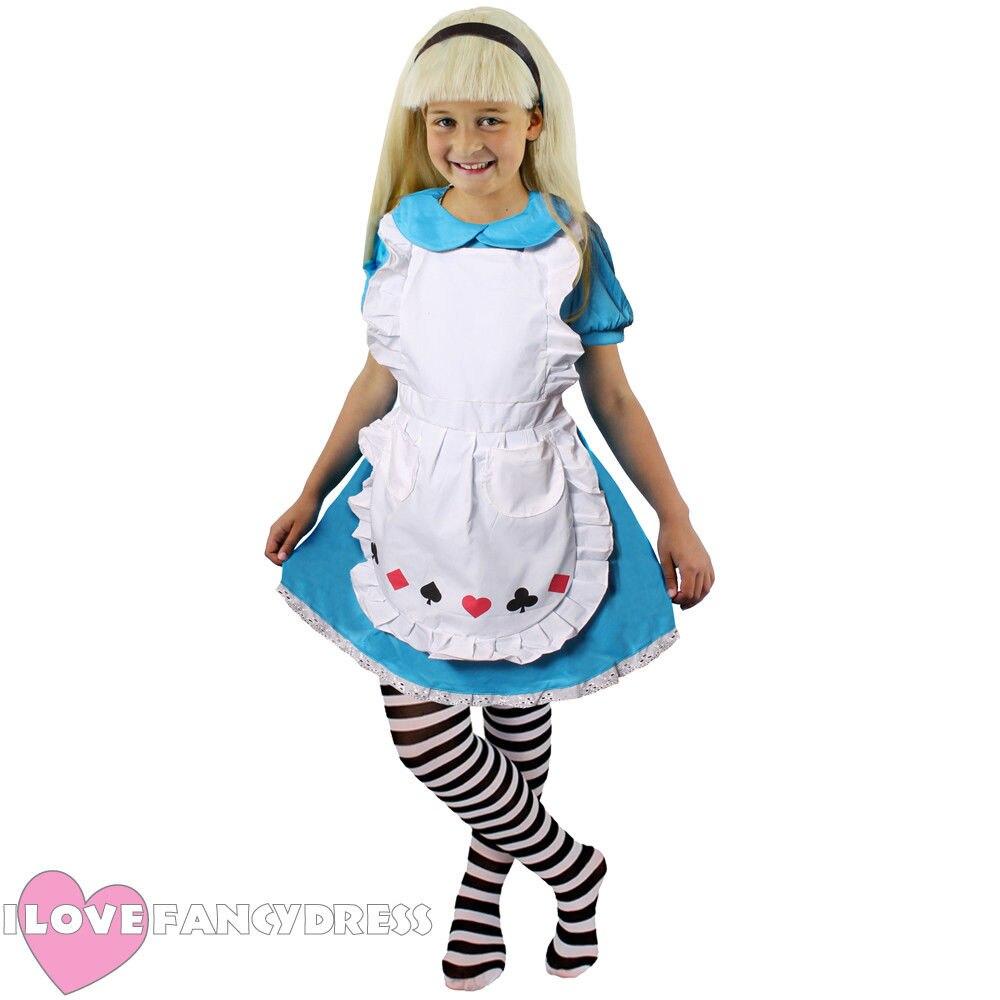 GIRLS CLASSIC ALICE COSTUME CHILDS SCHOOL BOOK WEEK HALLOWEEN FANCY DRESS KIDS CHARACTER
