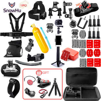 SnowHu for Gopro Accessories set for go pro hero 8 7 6 5 4 3 kit mount for SJCAM for xiaomi yi camera for xiomi tripod GS21 - DISCOUNT ITEM  29% OFF All Category