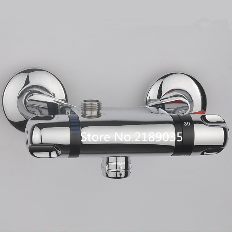 Shower Faucets Shower Copper Mixing Valve Thermostat: Rushed Shower Faucets Constant Temperature Faucet Mix