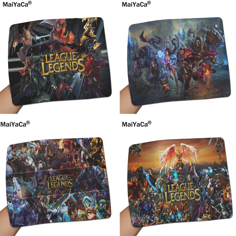 MaiYaCa League Of Legends Mouse Pad Size 18*22cm And 25*29cm Mouse Mats