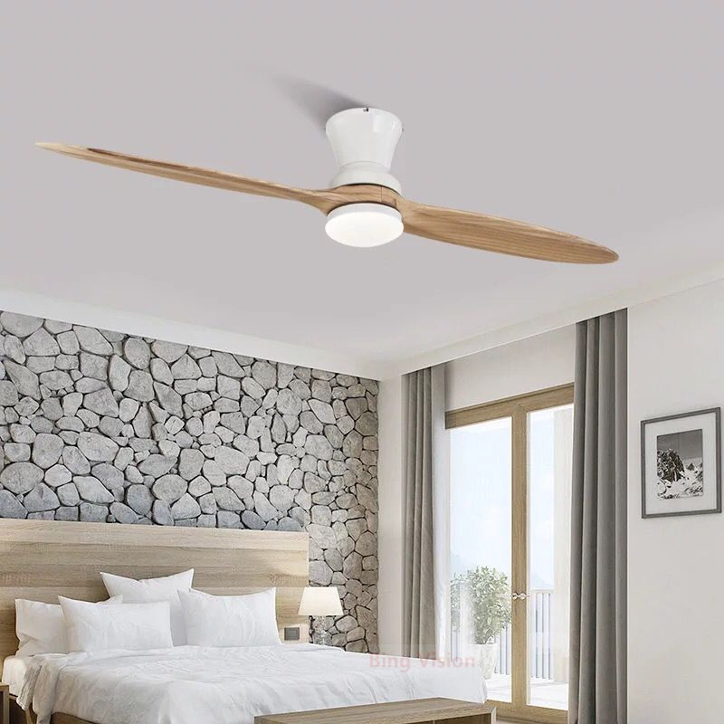 2019/60 Inch Village Industrial Wooden Ceiling Fan With Lights Wood Ceiling Fans Without Light Decorative Ceiling Light Fan Lamp Handsome Appearance