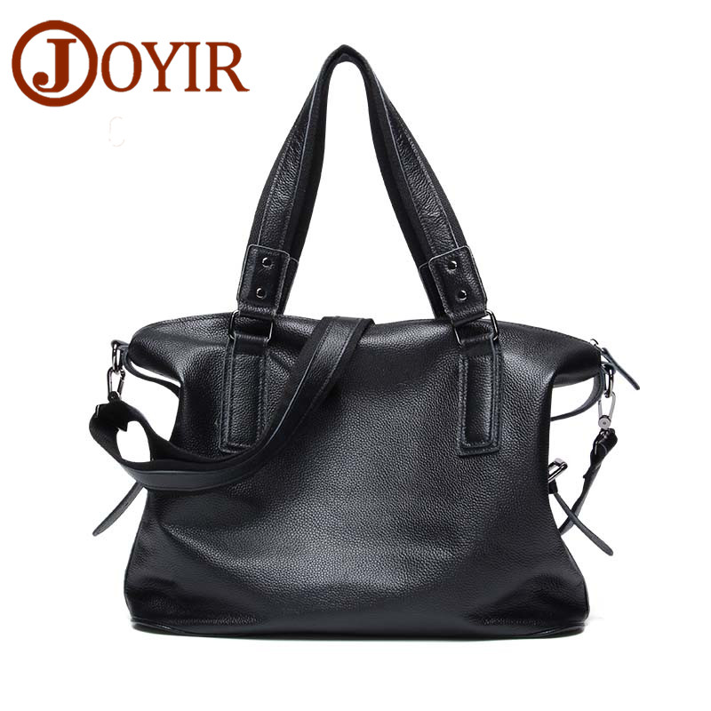 JOYIR Genuine Leather Men Handbag Top Cowhide Leather Briefcases Messenger Crossbody Bags Shoulder Bags For Men Travel Bag B158