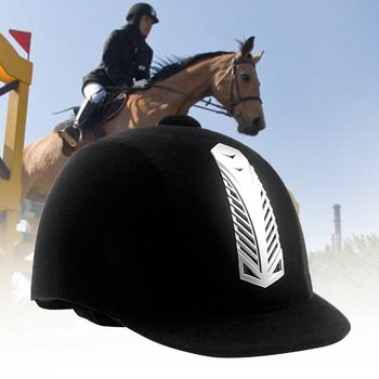 النساء الرجال سلامة نصف غطاء الرياضية واقية مكافحة تأثير كاب الفروسية خوذة الكبار الحصان ركوب الحرس قبعة الحصان معدات