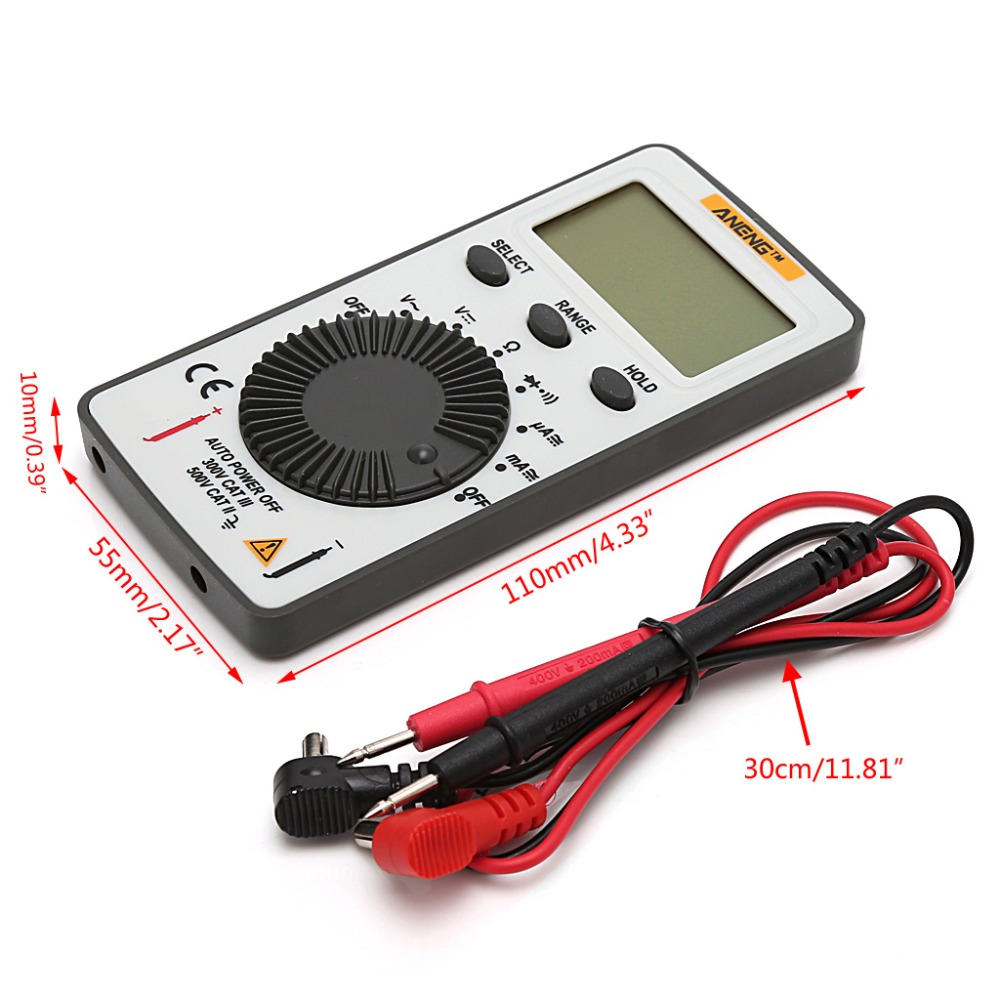 Buy An101 Pocket Digital Multimeter Backlight Ac Dc Test Car Fuse Box Automatic Portable Meter Tools From Reliable
