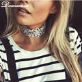 Dvacaman New Fashion Luxury Crystal Pendant Necklace Sexy Choker Collar Lest Statements Women Jewelry Wholesale 7476