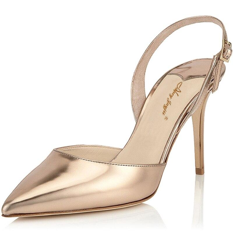 Women Summer Gold Silver Sandals Mules